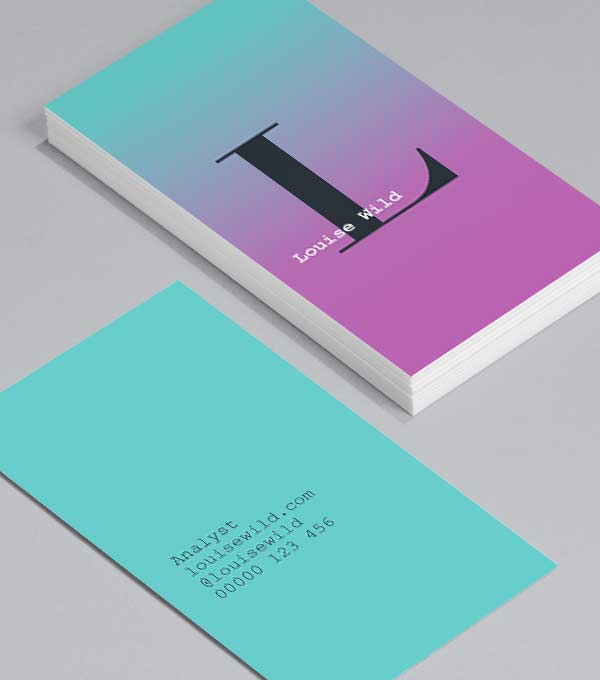 Business Card designs - Ombre Town