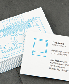 Preview image of Business Card design 'Camera: positiv'