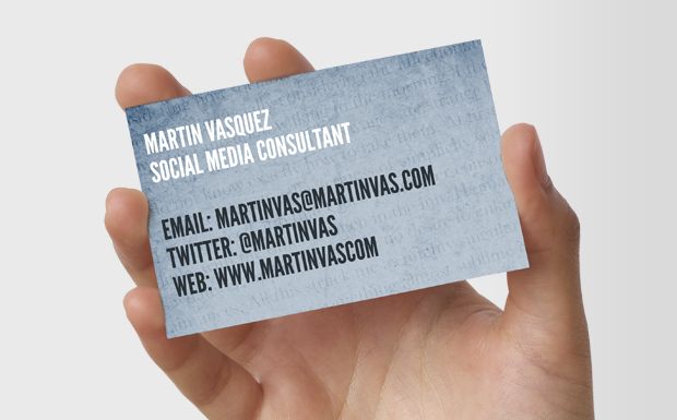 Chris Keegan Business Cards