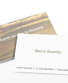 Preview image of Business Card design 'Landscapes'