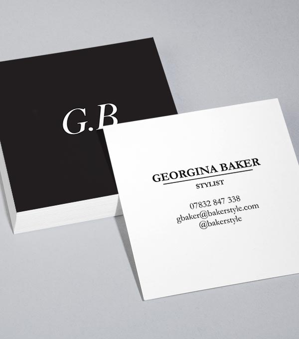 Browse square business card design templates moo united states sharp contrast fbccfo Images