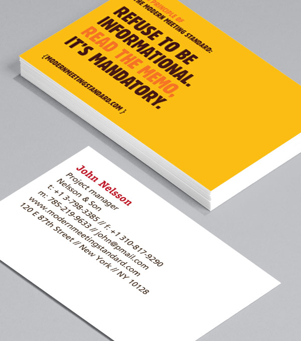 Business Card designs - Meetings & More