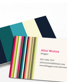 Preview image of Business Card design 'COLOURLovers Classic'