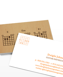 Business Card designs - Guitar Chords