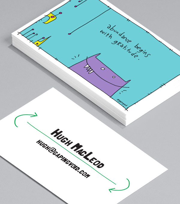 Business Card designs - Collaboration by gapingvoid