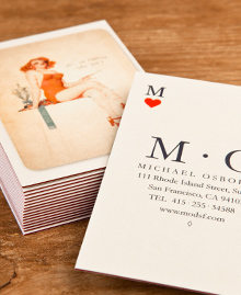 Preview image of Business Card design 'Card of Hearts'