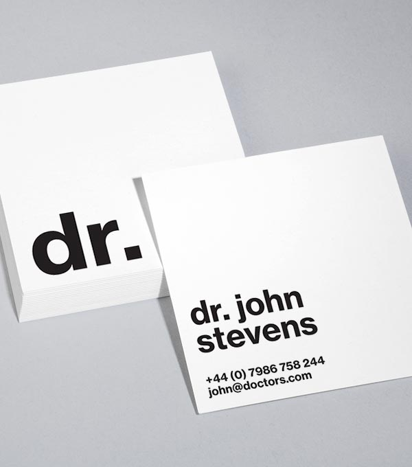 Square Business Card designs - So Pro