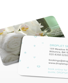 Preview image of Business Card design 'Droplet Spa'