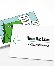 Business Card designs - gapingvoid for Business