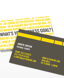 Preview image of Business Card design 'What's Your Fitness Goal?'