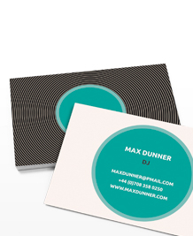 Preview image of Business Card design 'Vinyl Lovers'