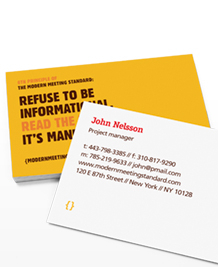 Preview image of Business Card design 'Meetings & More'