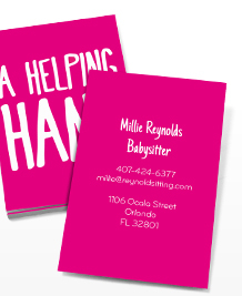 Business Card designs - A Helping Hand