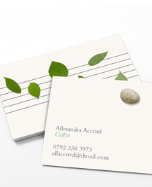 Business Card designs - Songs in the key of nature