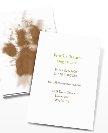Business Card designs - Muddy Paws