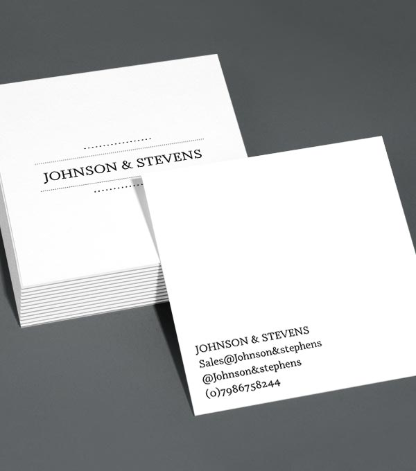 Square Business Card designs - Profile Power