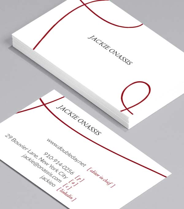 Business Card designs - Jackie Onassis
