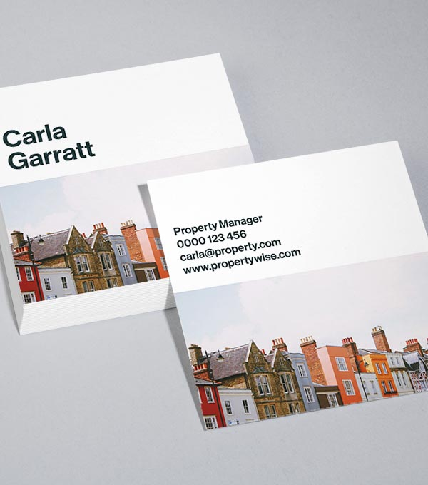 Square Business Card designs - Half and Half