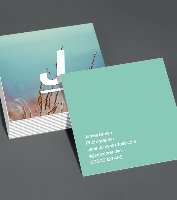 Square Business Card designs - Just So