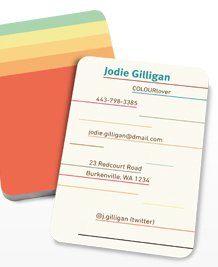 Preview image of Business Card design 'COLOURlovers Champions'