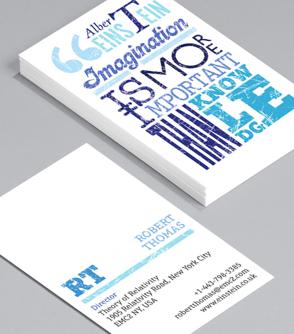 Business Card designs - Philosophy, anyone?