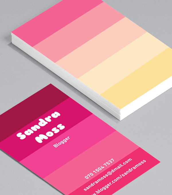 Business Card designs - Perfectly Pink II