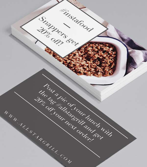 Business Card designs - Mealtime Sharing