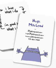 Preview image of Business Card design 'gapingvoid for Entrepreneurs'