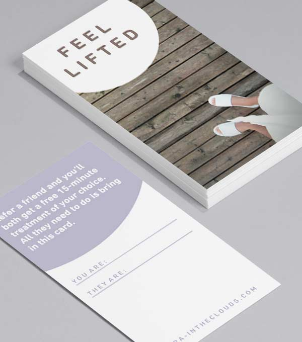 Business Card designs - When it comes to calm
