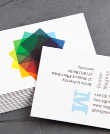 Preview image of Business Card design 'Gustav Magnus'