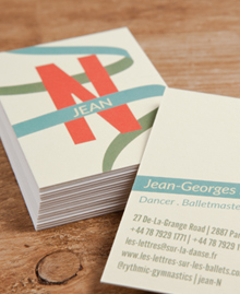 Preview image of Business Card design 'Jean Noverre'