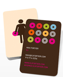 Preview image of Business Card design 'Wedding DJ (f)'