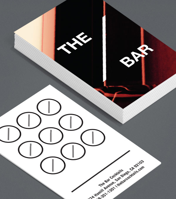 Business Card designs - The Bar