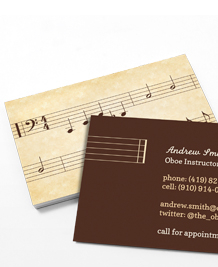 Preview image of Business Card design 'Hit the right note'