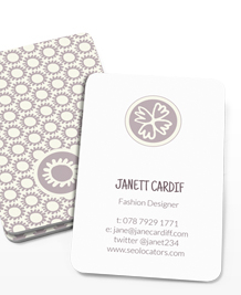 Preview image of Business Card design 'Fashionable Wedding'