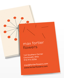 Preview image of Business Card design 'Modern Florals'