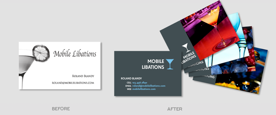 one sided business card designs