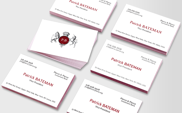 Patrick bateman luxe business cards for Patrick bateman business card template