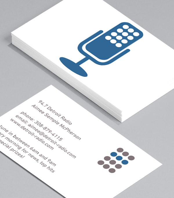 Designs de Cartes de Visite - Talk Radio - Blue