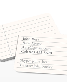 Preview image of Business Card design 'I Love Spreadsheets'