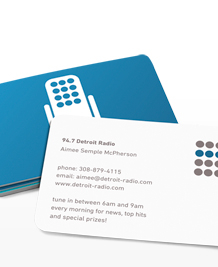 Preview image of Business Card design 'Talk Radio - Blue'