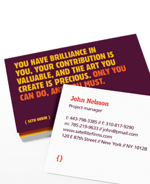 Preview image of Business Card design 'Seth Godin - Making Change'