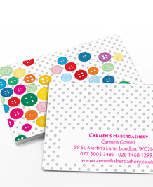 Preview image of Business Card design 'Button Button'