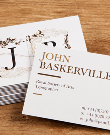Preview image of Business Card design 'John Baskerville'