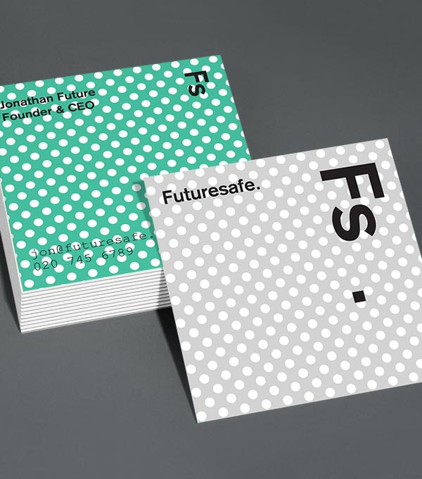 Square Business Card designs - Future Proof