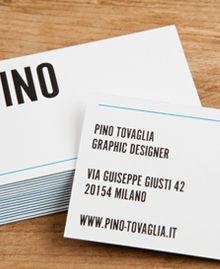 Preview image of Business Card design 'Pino Tovaglia'