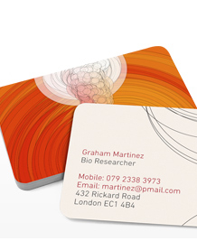 Preview image of Business Card design 'Dr Woo Hoo Swirls'