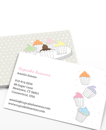 Preview image of Business Card design 'Cute Cupcakes'