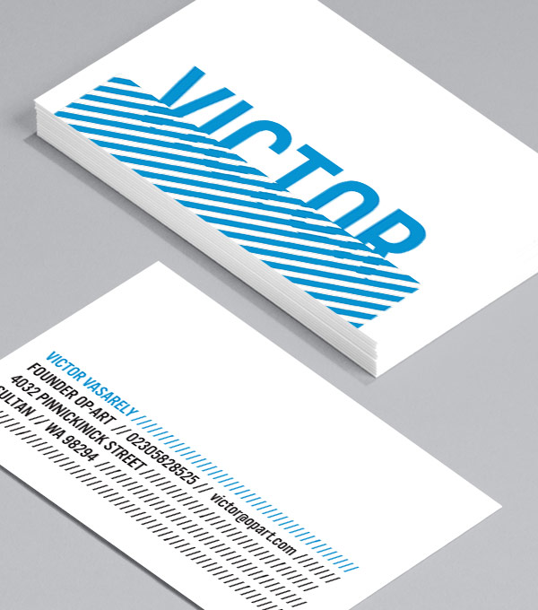 Business Card designs - Victor Vasarely