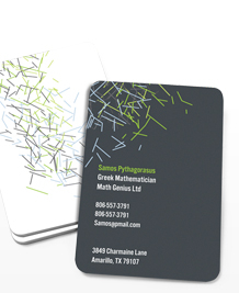 Preview image of Business Card design 'Abstract Lines Vertical'